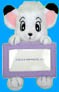 Kimba plush with picture frame